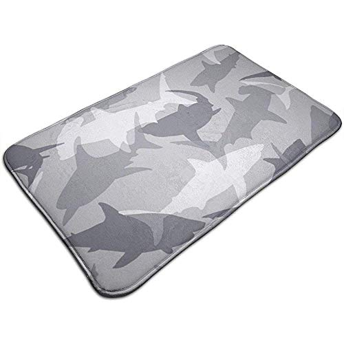 Liumt Camo Haai Patronen Deur Mat Decoratieve Antislip Badmat Tapijt 40cm*60cm