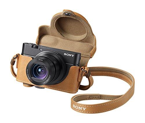 Sony DSC-RX100M3 Fotocamera Digitale Compatta con Sony LCS-RXG Custodia Morbida in Pelle marrone