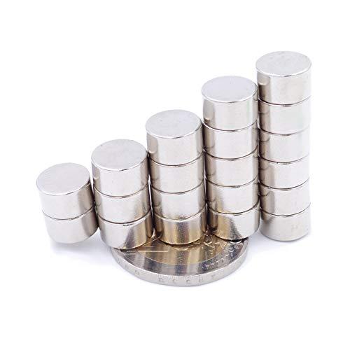 Brudazon | 20 Mini Imanes Discos 10x6mm | N52 Nivel más Fuerte - Los imanes de neodimio Ultra Fuertes | Imán del Poder para la Toma de Modelo, Foto, Pizarra Blanca | Pequeño, Redondo y Extra Fuerte