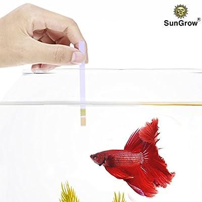 SunGrow Betta pH Test Strips - Just dip & read: Ensure Maximum comfort for fish & invertebrates: No complicated setup required