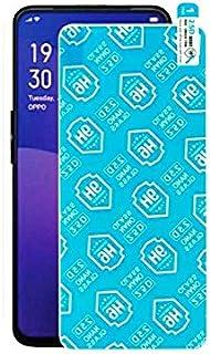 اسكرين واقي حماية الشاشة 9h مط ضد البصمة لهاتف أوبو رينو 2 اف ( OPPO Reno 2F ) ، شفاف