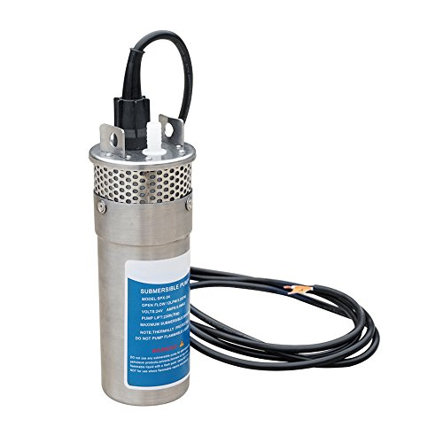 ECO-WORTHY Bomba de pozo de agua sumergible de 24V DC de ace