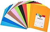 perfect ideaz 30 hojas gomaespuma de colores, DIN-A4, 10 colores diferentes, 2 mm de grosor, set de gomaespuma para manualidades, artculos de DIY, estera de gomaespuma para nios