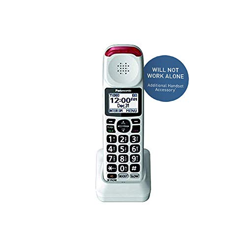 Panasonic Cordless Phone Handset Accessory Compatible with KX-TGM420W Series Cordless Phone Systems - KX-TGMA44W (White)