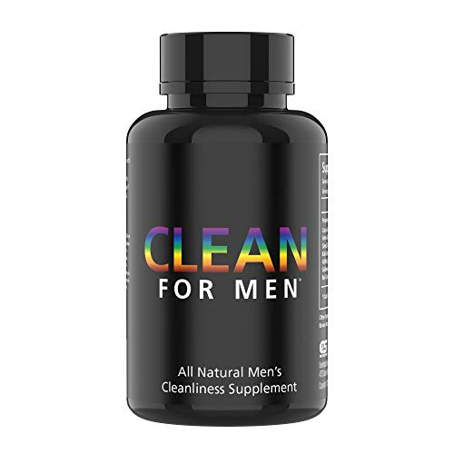Clean for Men Fiber Supplement Support - Extra Strength, 100% Vegan Constipation Supplement & Bloating Pills - Digestive Cleanliness & Constipation Ease for Men - 60 Count