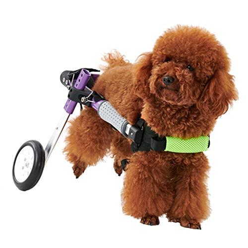Silla de Ruedas para Perros Adecuado para sillas de Ruedas para rehabilitación de Mascotas de Perros medianos y pequeños para Patas traseras, XS, S