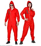 Takers Faschingskostüme - Roter Overall mit Kapuze Gr. S bis XXL Mann und Frau - Bankräuber Kostüm (Gr. XXL - 190 cm plus)