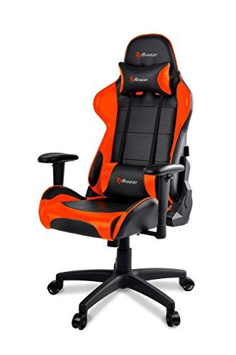 Arozzi - Verona V2 sedia da Gaming, Nero Arancione, 50 x 55 x 130
