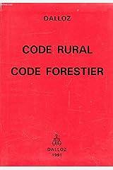 Code rural code forestier Cartonné