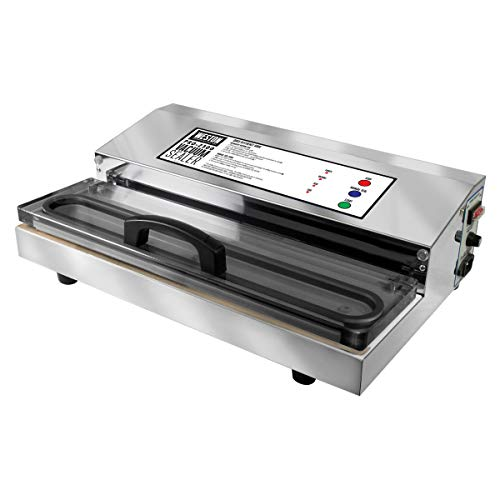 Weston Pro-2300 Commercial Grade Stainless Steel Vacuum Sealer (65-0201), Double Piston Pump, Pro-2300 (Stainless Steel)