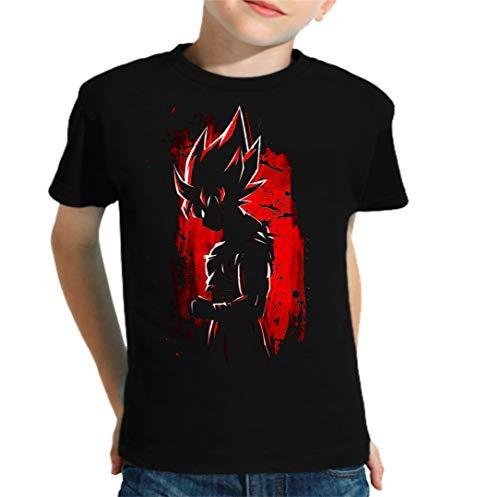 The Fan Tee Camiseta de NIÑOS Dragon Ball Goku Vegeta Bolas de Dragon Super Saiyan 162 11-12 años