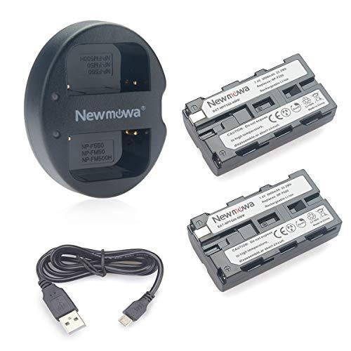 NP-F550 Newmowa Batería Repuesto 2-Pack Kit Cargador