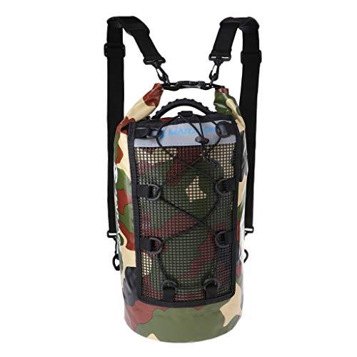 Tubayia Mochila impermeable para deportes acuáticos, con bolsillo de red para barco, kayak, pesca, natación