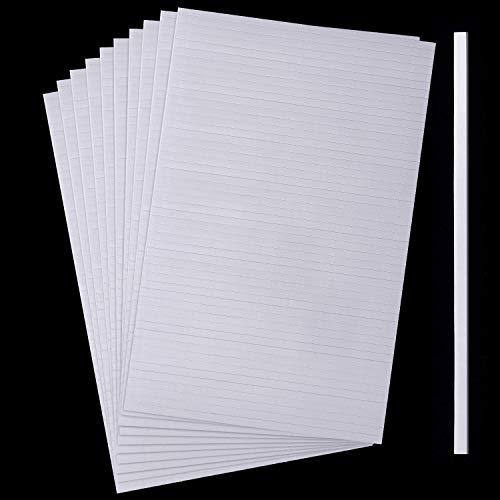 1000 Stücke Schaumstoff Klebestreifen Doppelseitige Zwei-Klebende 3D Schaumstoff Bänder Schaumstoff Popstreifen Klebebefestigung für Karten Büro Sammelalbum, 20 Blätter (3,9 Zoll)