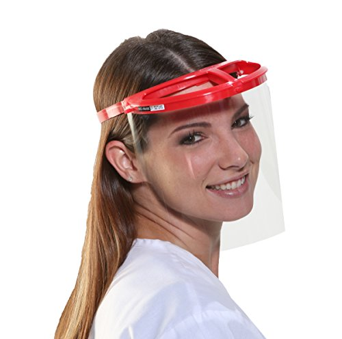 Bio-Mask Face Shield With 10 Shields (Red)