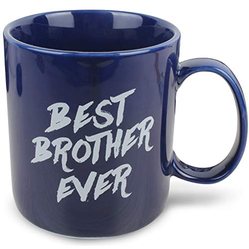 HAMIGAR Best Brother Ever Coffee Mug Tea Cup - Birthday Christmas Gifts for Brother from Sister Brother - 14oz Ceramic