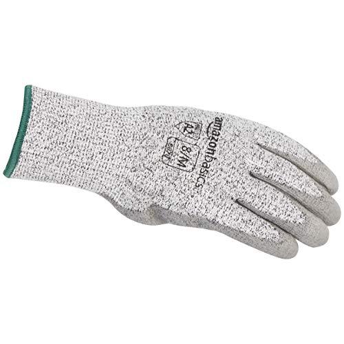 AmazonBasics Cut Resistant Work Gloves, Salt and Pepper, 5/XXS, 1 Pair (Pack of 1)