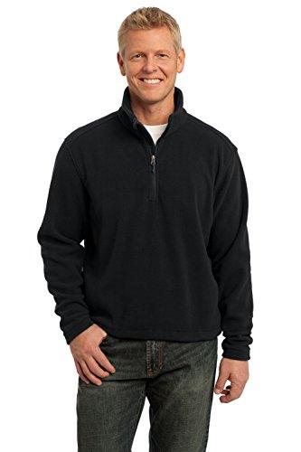 Port Authority Men's Tall Value Fleece 1/4 Zip Pullover LT Black
