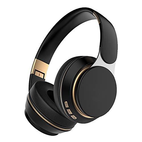 SHENXI Auriculares inalámbricos Over Ear con Micro TF/FM,Auriculares Bluetooth,Cancelación Activa de Ruido, Plegable Hi-Fi Sonido para TV, PC, Tableta, Móvil