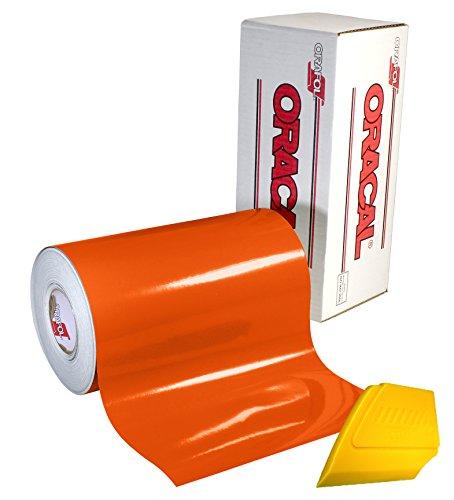 3M 50 Scotchcal Bright Orange 34 Vinyl Film Craft Sign Hobby DIY Sheet Roll
