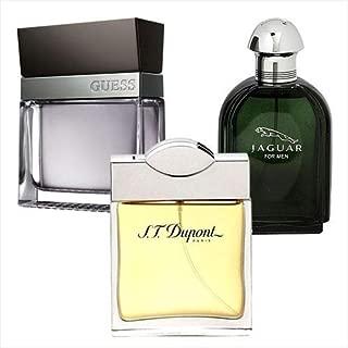 Bundle of 3 Men Perfumes (Jaguar Green, S.T Dupont Pour Homme, Guess Seductive Homme) 100 ml Each