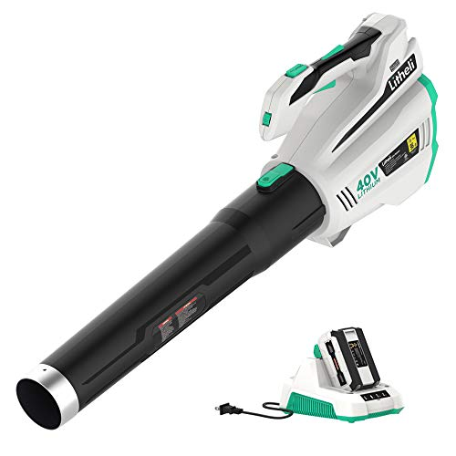 LiTHELi 40V Leaf Blower Cordless 480CFM 92MPH with Brushless Motor, 2.5AH Battery and Charger