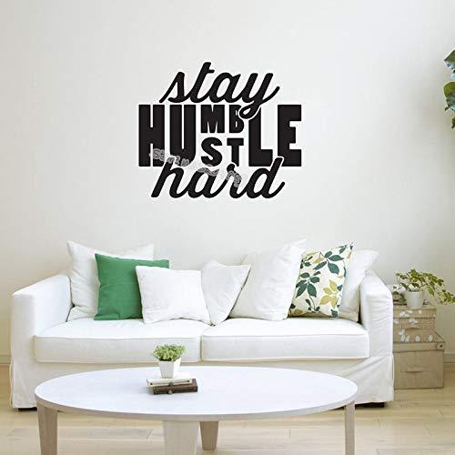 supmsds Stay Humble Hustle Hard Quote Etiqueta de la Pared Inspirador Alienta a Decir Decal Decor Office Office Dorm Room 87X72CM
