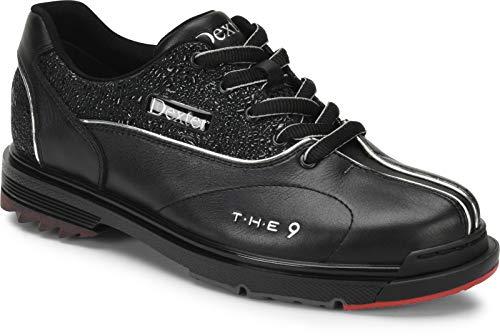Dexter The 9 - Schwarz/Juwelenbesetzt - High Performance Bowling Schuhe - Für Damen mit Wechselsohle - für Rechts- und Linkshänder Größe 41