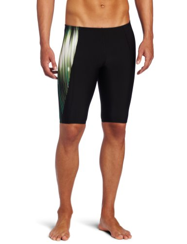 Speedo Men's Endurance+ Team Collection Power Sprint Jammer Swimsuit, Lochte Green, 34