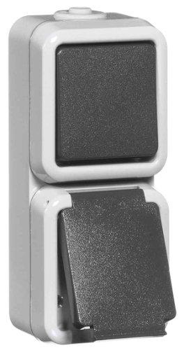 peha Kombination gr D 6666 WAB Schalter/Steckdose Feuchtraum Schalter-/Steckdosenkombination 4010105307610
