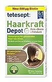 tetesept Haarkraft Depot – Nahrungsergänzungsmittel mit Zink, Folsäure und Biotin - für glänzendes Haar von innen – 1 x 30 Mini-Tabletten