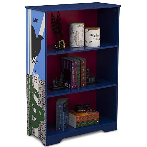 Delta Children Deluxe 3-Shelf Bookcase - Ideal for Books, Decor, Homeschooling & More, Harry Potter