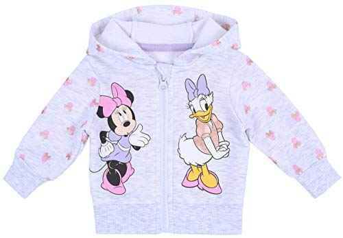 Sweat-Shirt Gris Minnie-Daisy Disney 3-6 Mois