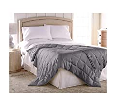 Duvet Cover White Glass Bead Fill 60 x 80 Harmonia Weighted Blanket 15 lbs :: Cotton Shell Weighted Blanket Adult 15 lbs