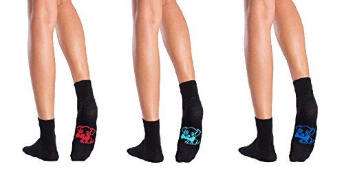 Symbolsocks 3 Paar Socken schwarz mit Motiv, Damen/Herren,44-46,Hunde