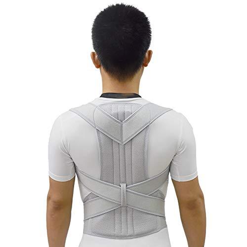 ZBSPORT Haltungstrainer, Geradehalter LUX zur Haltungskorrektur für Damen und Herren Rückenbandage für perfekte Haltung Grau