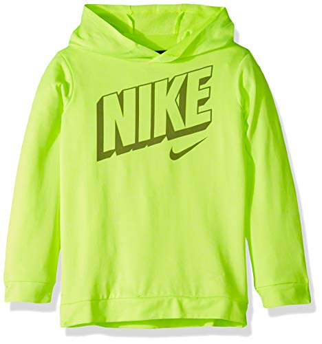 NIKE Children's Apparel Boys' Toddler Long Sleeve Hooded T-Shirt, Volt Heather, 2T