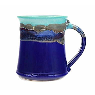 Clay In Motion Handmade Ceramic Medium Mug 16oz - Mystic Waters