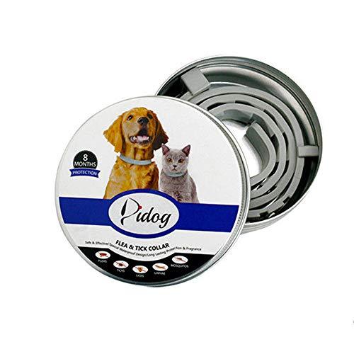 XKBESTGO Hundehalsband für Hunde mit Floh- und Zeckenhalsband, verstellbar, natürlich, sicher, wasserfest