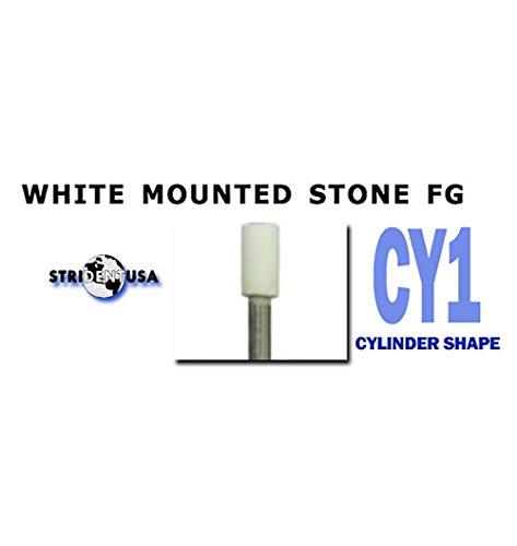 White Mounted Stones CY1 Dental Polishing 12/per Box