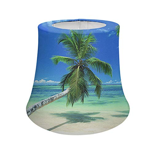 UNICEU Tropical Palm Tree on Beach Lamp Shades Table Lamp Shades Fade Resistant Reading Lamp Shades Universal Fit Most Lamps Trendy Room Decor