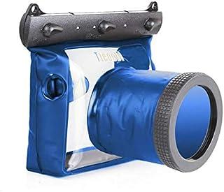 حقيبة غطس للكاميرا تحت الماء مضادة للماء بعمق 20 مترًا لون ازرق لكاميرا اس ال ار رقمية نيكون كانون