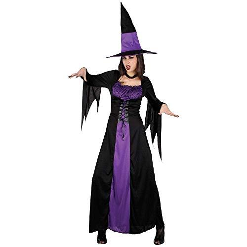 Disfraz De Bruja Para Mujer Vestido De Bruja Sombrero De Bruja Malvada Disfraces De Halloween Sexy-S