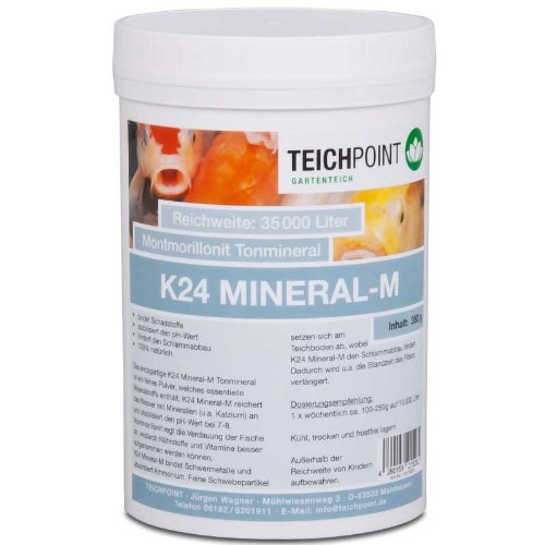 K24 Mineral - M, montmorillonit Tonmineral mit Kalzium, 350 g für Teich und Aquarium