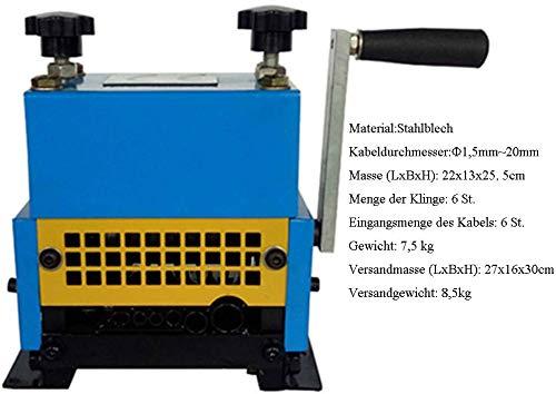 Loywe Abisoliermaschine Kupferschrott Kabelschälmaschine Kabelabisoliermaschine Kabel Kabelschäler Wirestripper JL3607