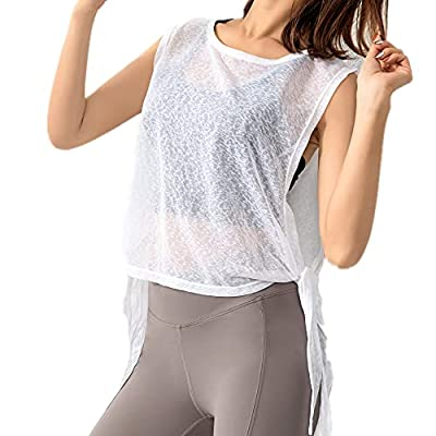 Amazon - 60% Off on Women's Crew Neck Sleeveless Breathable Blouse Hollow Out Beach