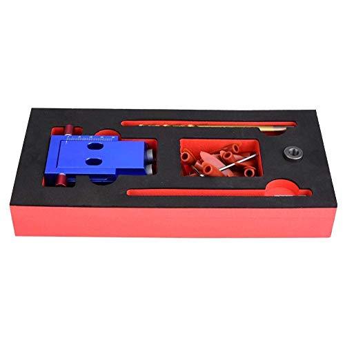 JIAHONG Drill Bit Set Pocket Slant Hole Locator, Jig Step Drill Bit Set Dowel Hole Drilling Guide Locator Woodworking Tool