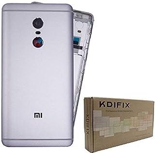 KDIFIX غطاء خلفي غطاء البطارية استبدال غطاء الهاتف - لجهاز Xiaomi Mi Redmi Note 4 (رمادي)