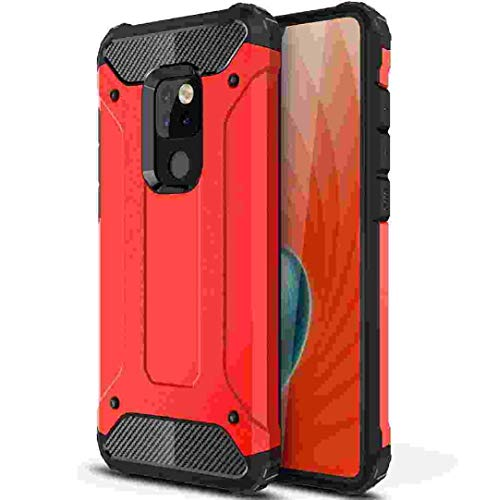 for Huawei Mate20 Pro Case, Portable Facile Hybrid Art Background Armor Shell Useful Formal Cover, Scratch Proof Protect Slim Phone Case,*Red