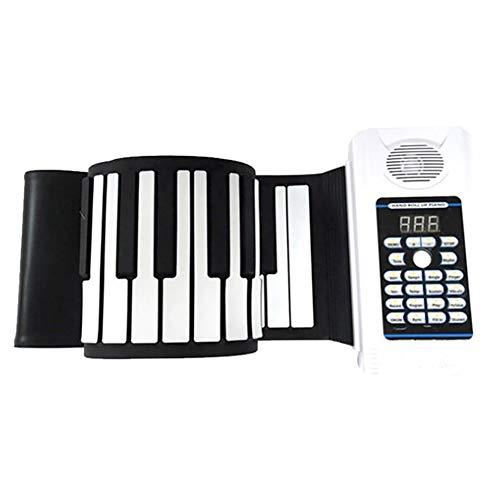 LJRdg Dikke Opvouwbare Hand Roll Piano, Draagbaar Toetsenbord Piano 61 Key 128 Geluiden, 128 Ritmes, 30 Demo Liedjes Kinderen Leren Interactieve Geschenken